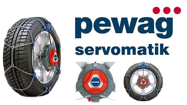 Zimní řetězy Pewag na osobní vozy, dodávky, SUV a nákladní vozy.