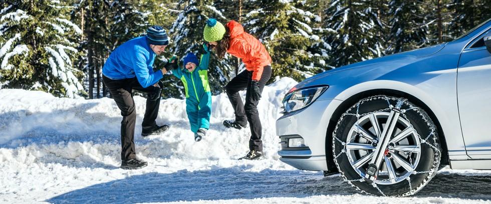 Zimní řetězy na osobní vozy, dodávky, SUV a nákladní vozy.